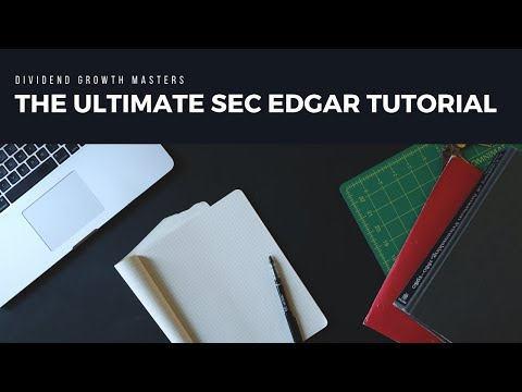 SEC Edgar Search Tutorial: How To Find SEC Filings