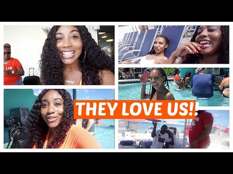 ISLAND BOYS LOVE US?!! | CRUISE VLOG PART 1