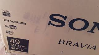 SONY BRAVIA 49W752D COMPLETE UNBOXING