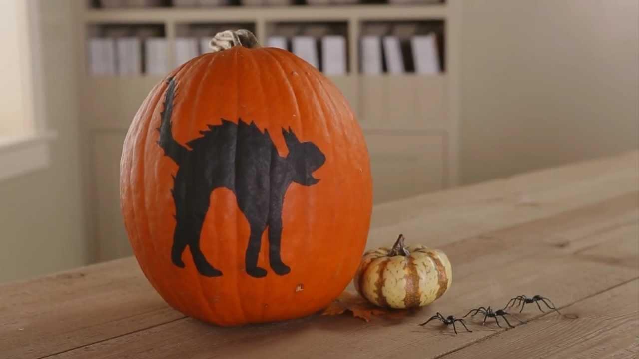 How To Paint A Halloween Pumpkin YouTube - How to paint a pumpkin