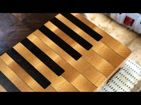 making a piano end grain cutting board youtube. Black Bedroom Furniture Sets. Home Design Ideas