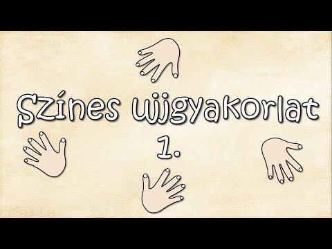 Színes ujjgyakorlat 1. (A két kéz azonos mozgást végez.)