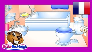 """In the Bathroom"" (French Lesson 12) CLIP - Learn Salle de Bain Words, Easy Français, Kids Language"