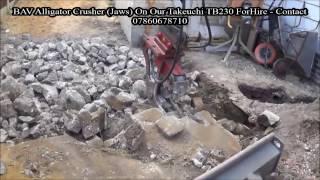 bav alligator crusher hydraulic jaws on takeuchi tb230 part 5