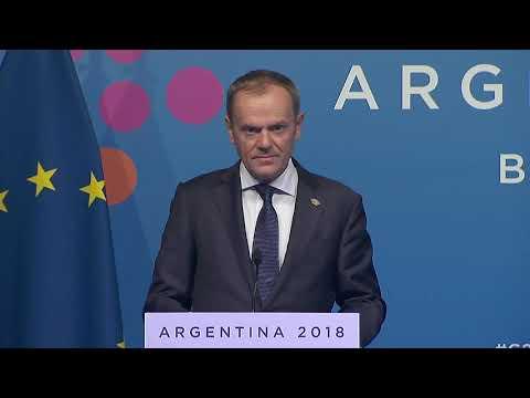 G20 Argentina: Press conference: President Tusk - Brexit