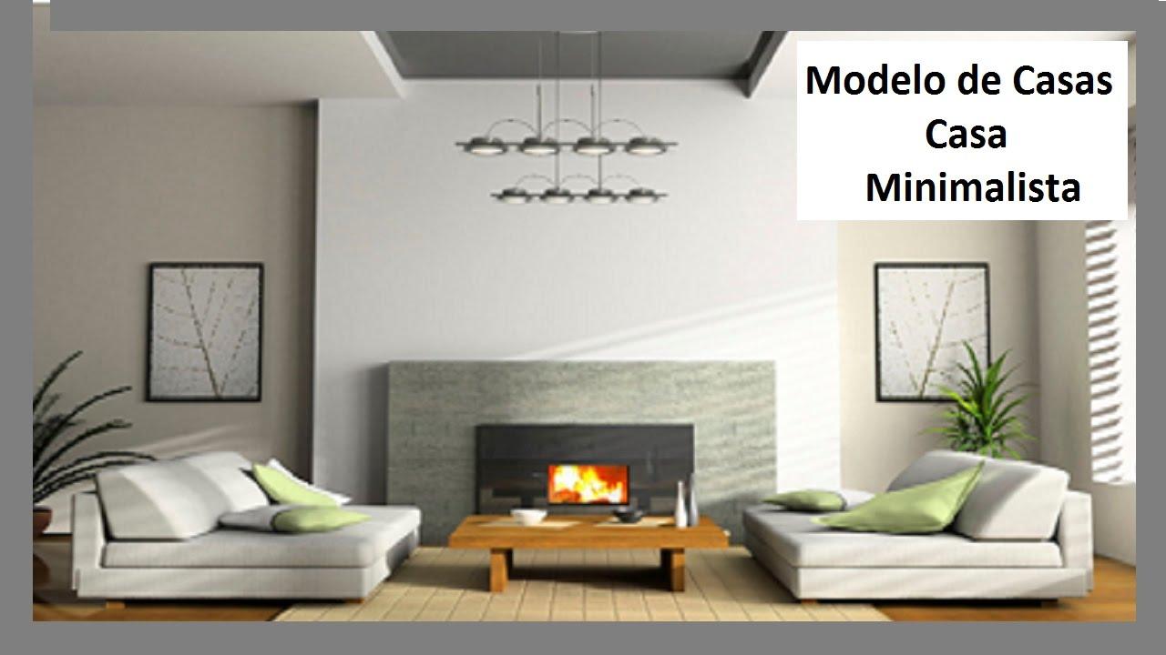 Modelo de casas casa minimalista eng carlos youtube for Casa minimalista living