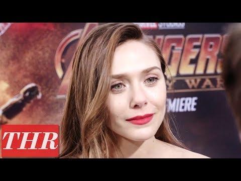 Elizabeth Olsen on 'Avengers: Infinity War' Premiere Red Carpet  THR