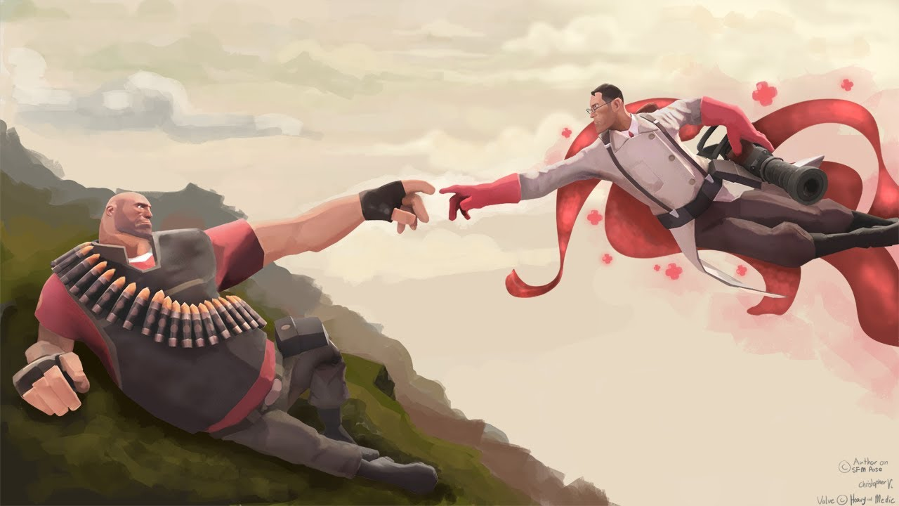 heavy medic bros playing late night team fortress 2