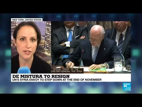 فرانس 24:UN Syria envoy De Mistura to step down
