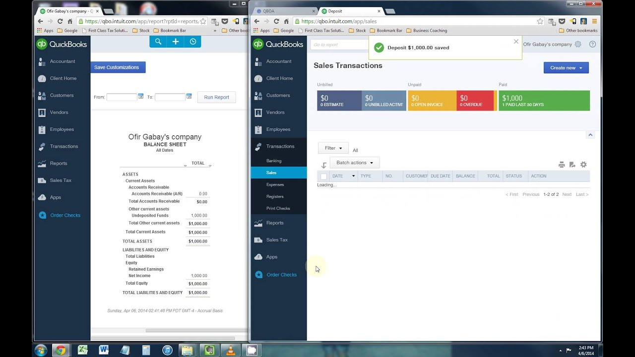 How To Record A Bounced Check In Quickbooks Online