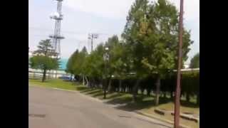 花咲スポーツ公園近く、北海道旭川市の野球場「スタルヒン球場」を視察~偶然、高校生「駒大苫小牧野球部」を目撃しました。練習試合なう。
