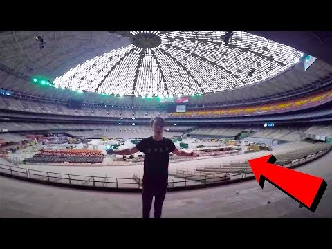 BREAKING INTO INDOOR STADIUM | (Worst Idea Yet)