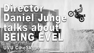Gambar cover Director Daniel Junge talks Evel Knievel Doc BEING EVEL - UVU CineSKype