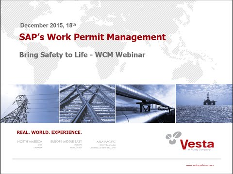 Bring Safety to Life – Check out SAP's Work Permit Management (WPM)