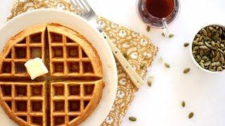 Pumpkin Waffles- Everyday Food with Sarah Carey