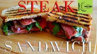 Cracking Steak Sandwich