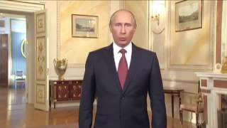 Прикол: Путлер читает по-англицки, написанный по-русски текст