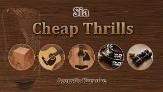 Cheap Thrills - Sia (Acoustic karaoke)
