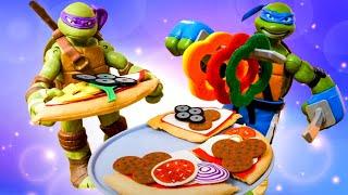 Черепашки Ниндзя на кухне в поисках еды. Смешные видео с игрушками