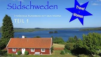 Süd - Schweden mit dem Wohnmobil, 1. Teil, Anreise Fähre Rostock-Trelleborg, Doku, Stellplätze, WoMo