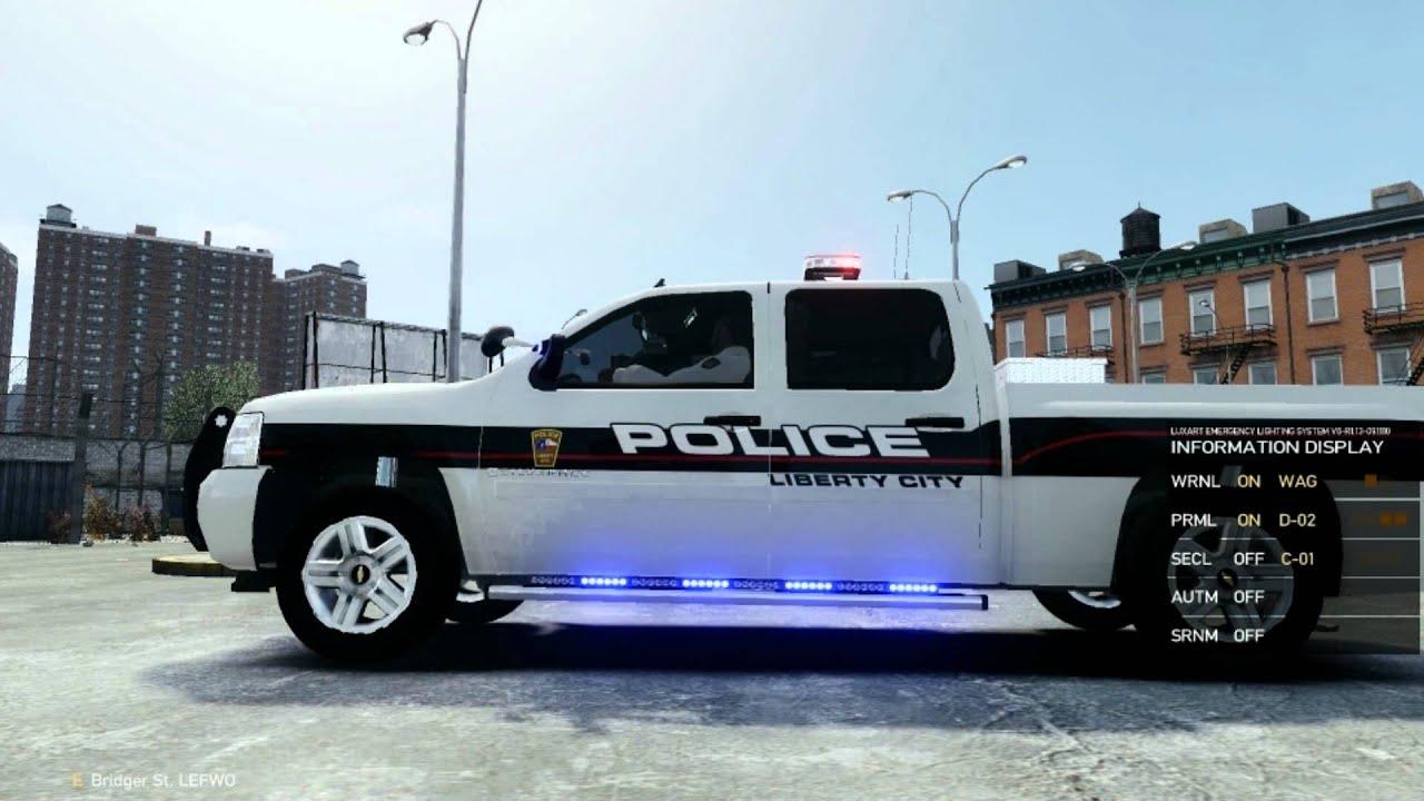 GTAIV Chevrolet Silverado 1500 Police By Bxbugs123 - YouTube
