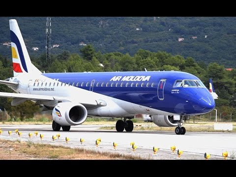 Air Moldova Embraer ERJ-190LR Close up Takeoff