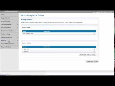 Cybersource Secure Acceptance  Profile Setup Tutorial