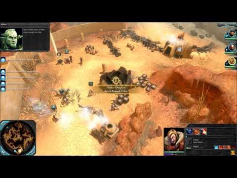 Warhammer 40k Dawn of War II Playthrough Part 2 Green bloodbath |
