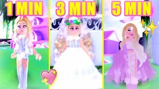 1-Minute Vs. 3-Minute Vs. 5-Minute WEDDING DRESS CHALLENGE!