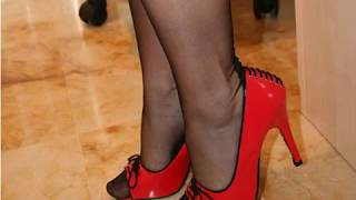 035 Legs In High Heels And Stockings Ноги на высоких каблуках и в чулках