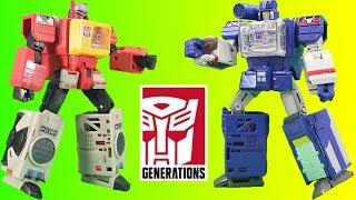 Mega Transformers Generations Titans Return Soundwave & Blaster Adventure!