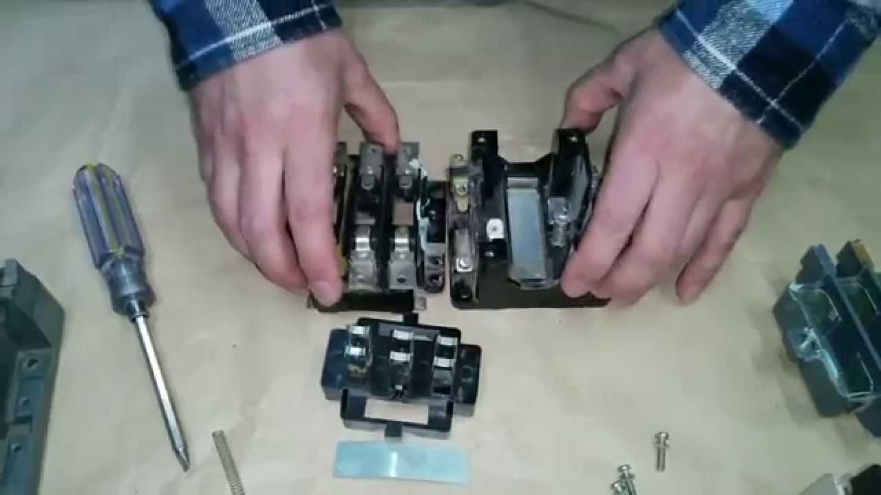 Устройство магнитного пускателя ПМА-3000.