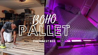 Amazing DIY HOW TO BUILD A QUEEN SIZE PALLET BED!! Simple, Fun & BEGINNER FRIENDLY!!