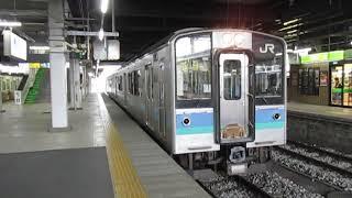 篠ノ井線E127系長野駅発車