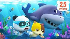 Super Panda's Ocean Rescue Mission   Baby Shark   Monster Car   Pretend Play   BabyBus Cartoon