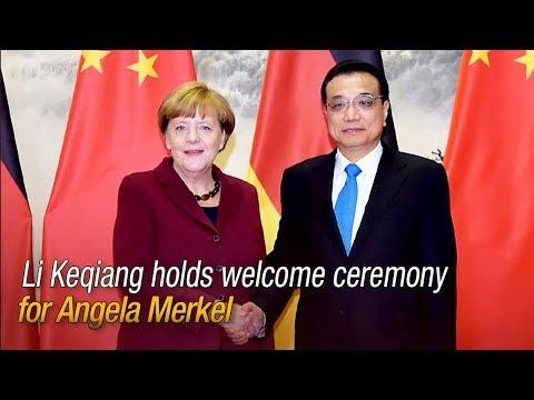 Live: Li Keqiang holds welcome ceremony for Angela Merkel 李克强总理欢迎德国总理默克尔访华