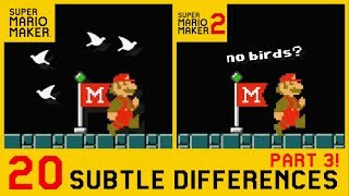 20 Other Subtle Differences between Super Mario Maker 2 and SMM1 (3/4)