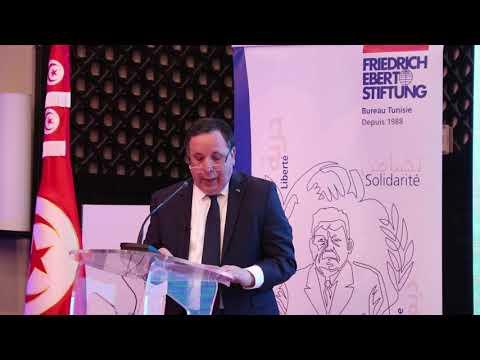 مداخلة وزير الشؤون الخارجية خميس الجهيناوي في المنتدى الدولي لمجلة حقائق