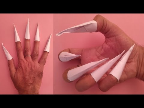 how to make origami claws easy - paper claws easy - easy origami tutorial