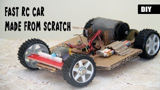 How to make a FAST RC CAR from scratch | DIY Remote Controlled Vehicle