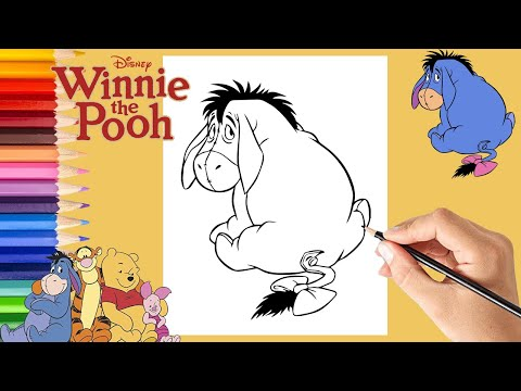 Bashful Eeyore Coloring Page | H & M Coloring Pages | 360x480