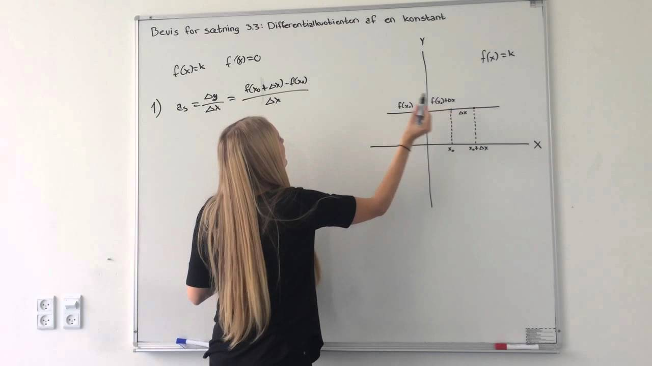 Differentialkvotienten af en konstant - Differentialregning