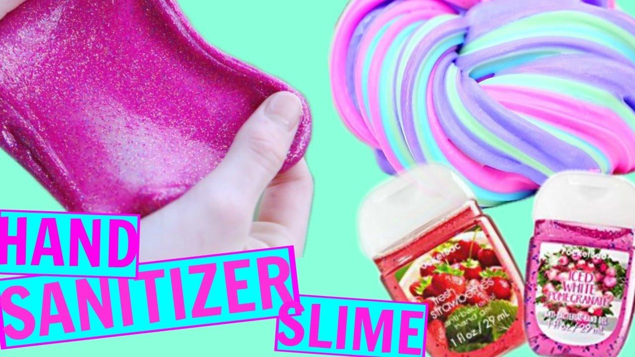 No Glue Hand Sanitizer Slime Testing No Glue Hand Sanitizer