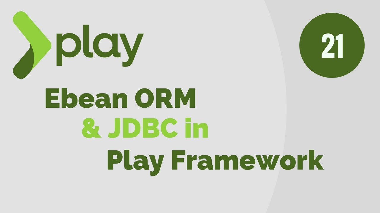 Play Framework Tutorial # 21 Enable Ebean ORM & JDBC Support