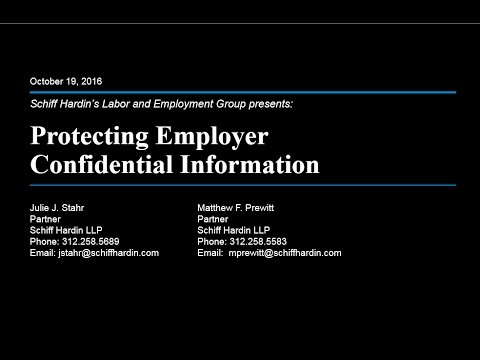 Protection of Employers Confidential Information
