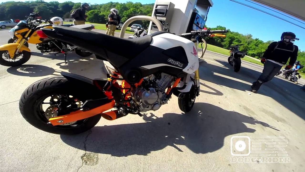 Honda Grom 300 Engine Swap - 2016 Smoky Mountain Crawl - YouTube