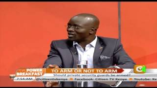 Power Breakfast Interview Arming Private Security Firms