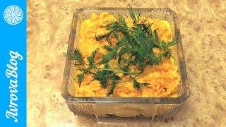 Морковный салат  с чесноком, яблоками и майонезом