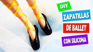 CÓMO HACER  ZAPATILLAS DE BALLET PARA MUÑECAS - manualidades para muñecas