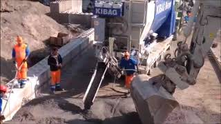 Kibag at work with VDW Betontech Mobile Concrete Plant